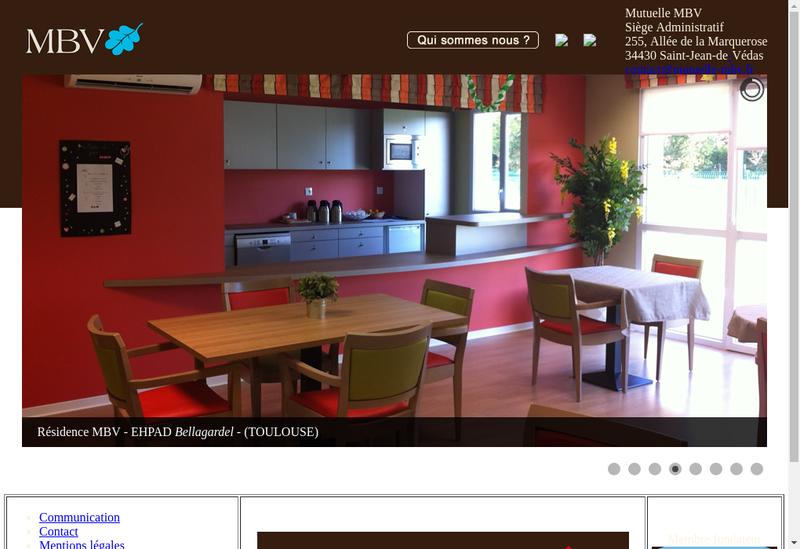 Capture d'écran du site de Mutuelle Nationale du Bien Vieillir Mb