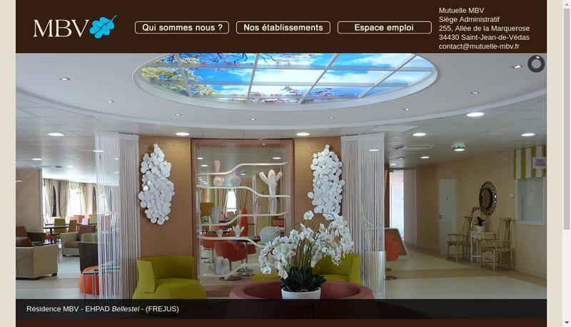 Capture d'écran du site de Mutuelle Nationale du Bien Vieillir-Mbv