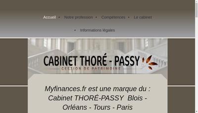 Site internet de Cabinet Thore-Passy