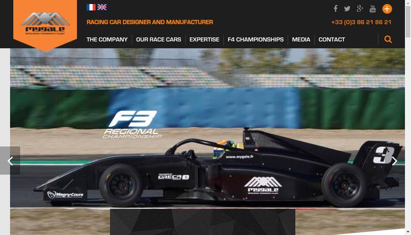 Capture d'écran du site de Mygale