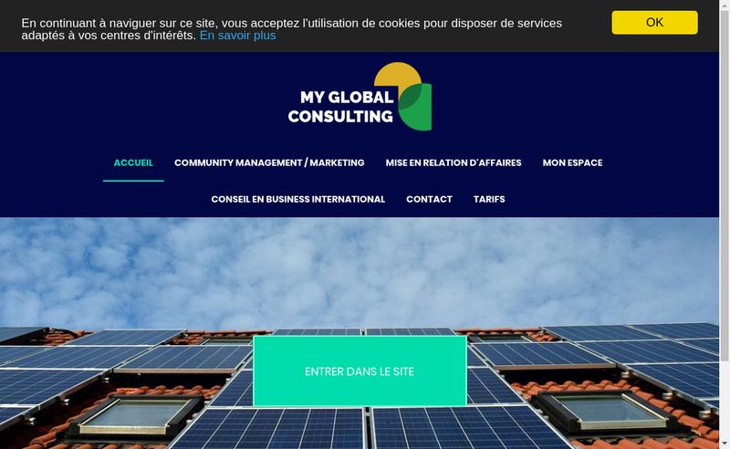 Capture d'écran du site de My Global Consulting