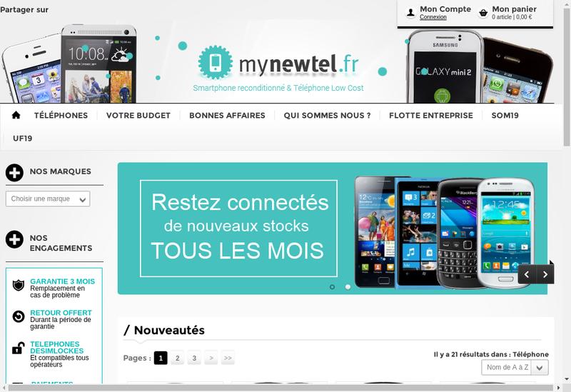 Capture d'écran du site de Mobilecase