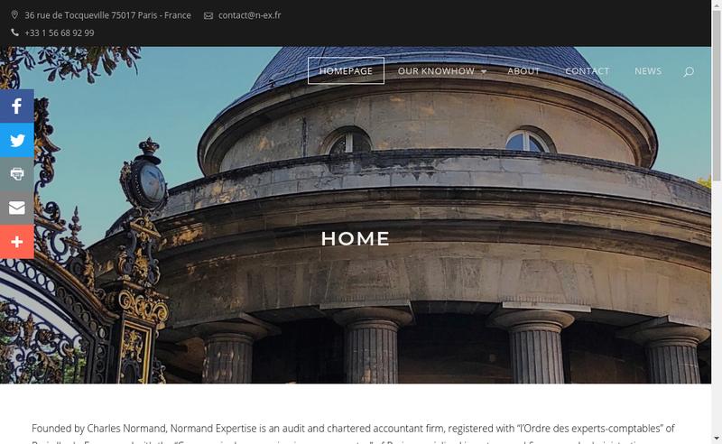 Capture d'écran du site de Normand Expertise