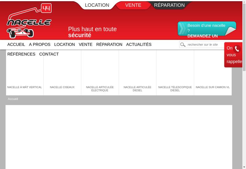 Capture d'écran du site de Nacelle 44