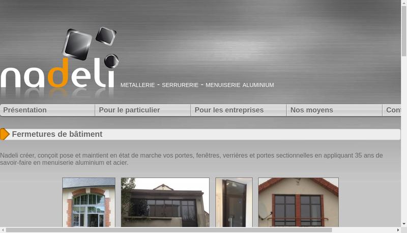 Capture d'écran du site de Entreprise G Fiot