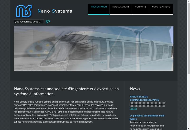 Capture d'écran du site de Nano-Systems Communications