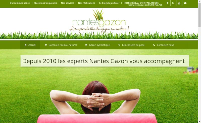 Capture d'écran du site de Nantes GAZON