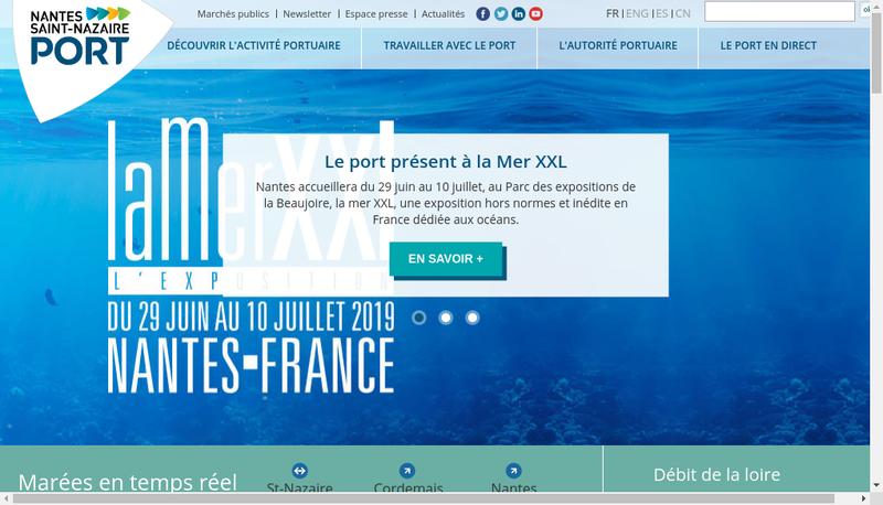 Capture d'écran du site de Grand Port Maritime de Nantes Saint-Nazaire