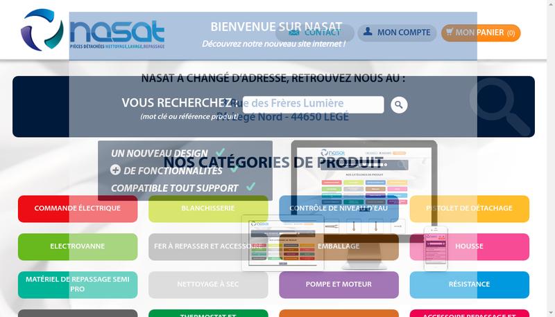 Capture d'écran du site de NASAT