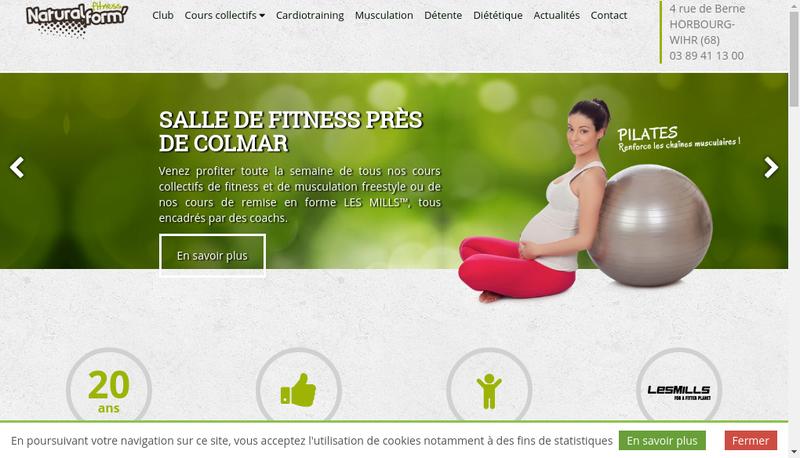 Capture d'écran du site de Natural Form'
