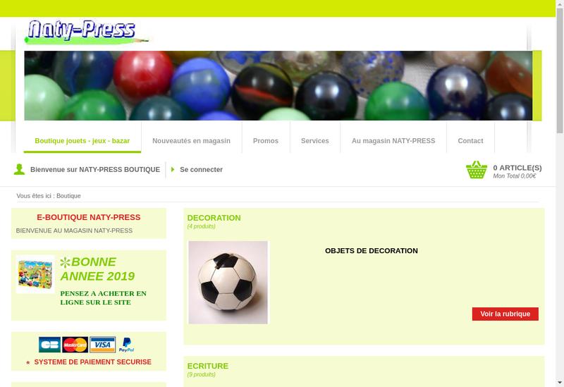Capture d'écran du site de Naty Press