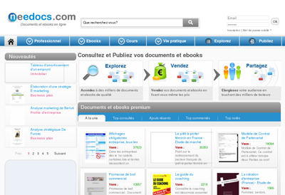 Capture d'écran du site de Needocs