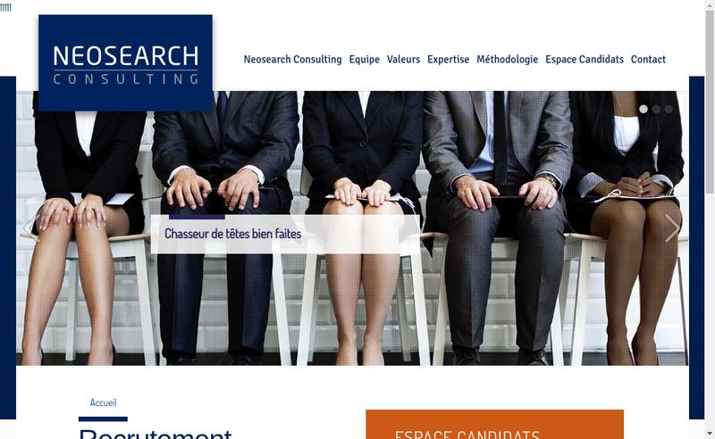Capture d'écran du site de Neosearch Consulting