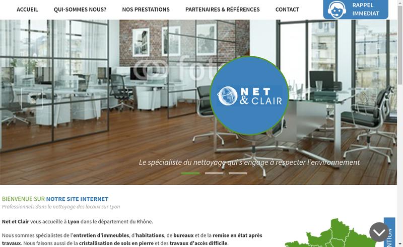 Site internet de Net et Clair