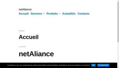 Site internet de Netaliance Parsec Informatique