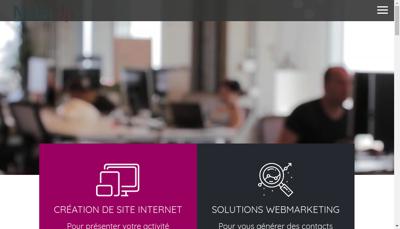 Capture d'écran du site de Netinup