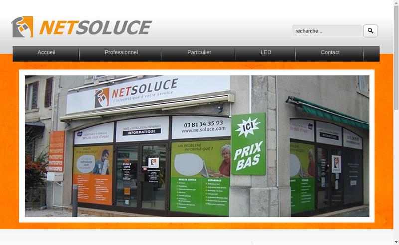Capture d'écran du site de Netsoluce