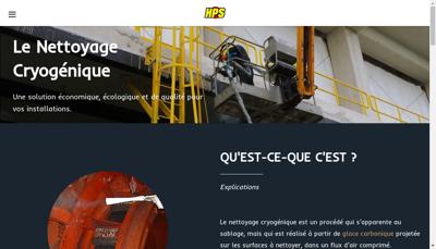 Capture d'écran du site de Hygiene Proprete Service