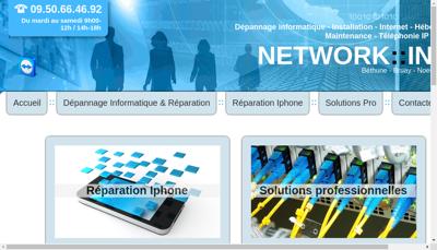 Capture d'écran du site de Network Info