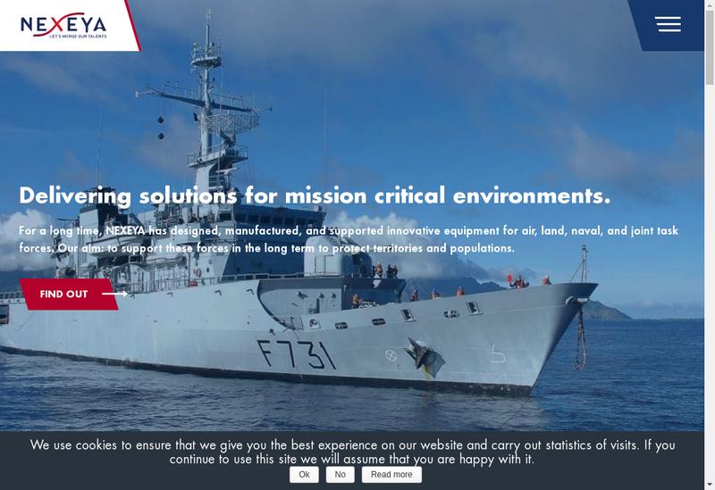 Capture d'écran du site de Nexeya