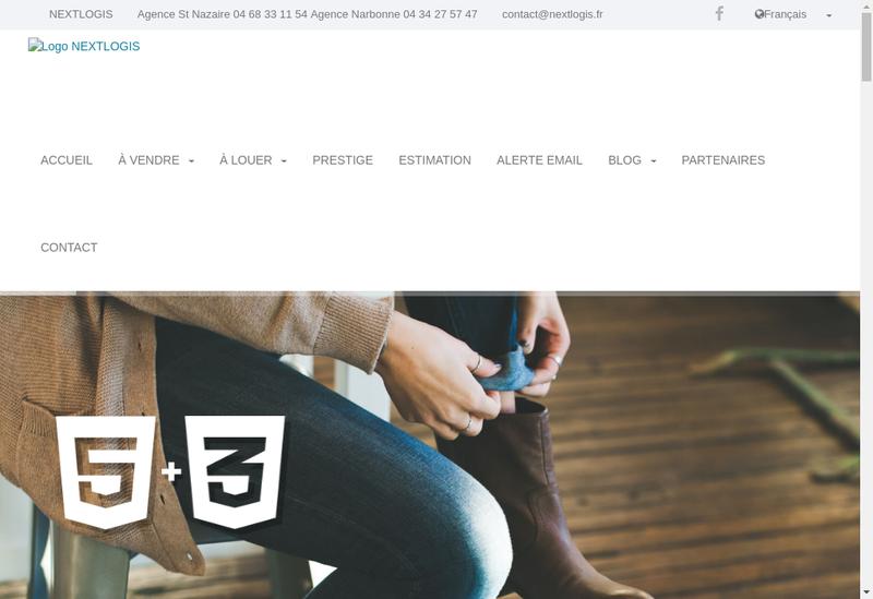 Capture d'écran du site de Nextlogis