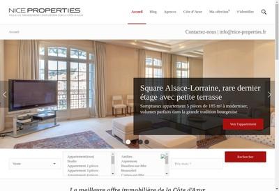 Site internet de Nice Properties Opera
