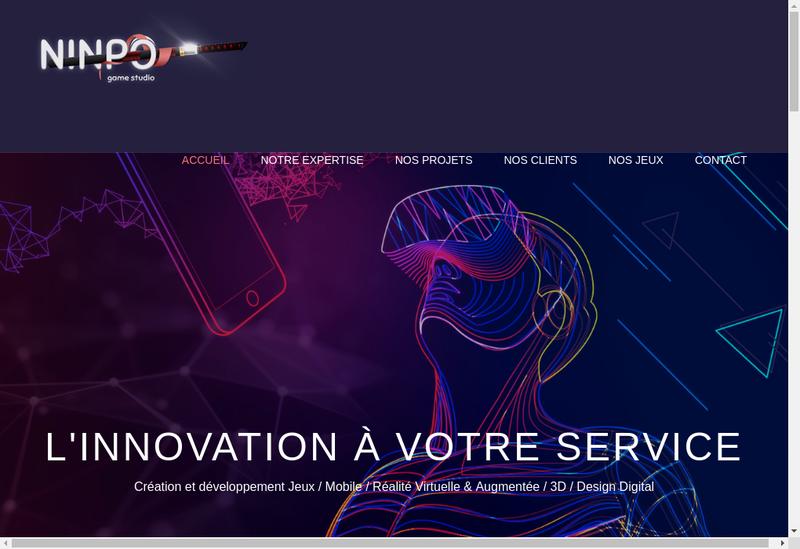Capture d'écran du site de Ninpo Ninpo Ninpo Games Ninpo Studio Ninpo Game Studio