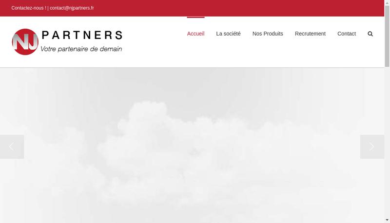 Capture d'écran du site de Nj Partners