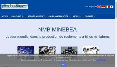 Site internet de Nmb Minebea SARL