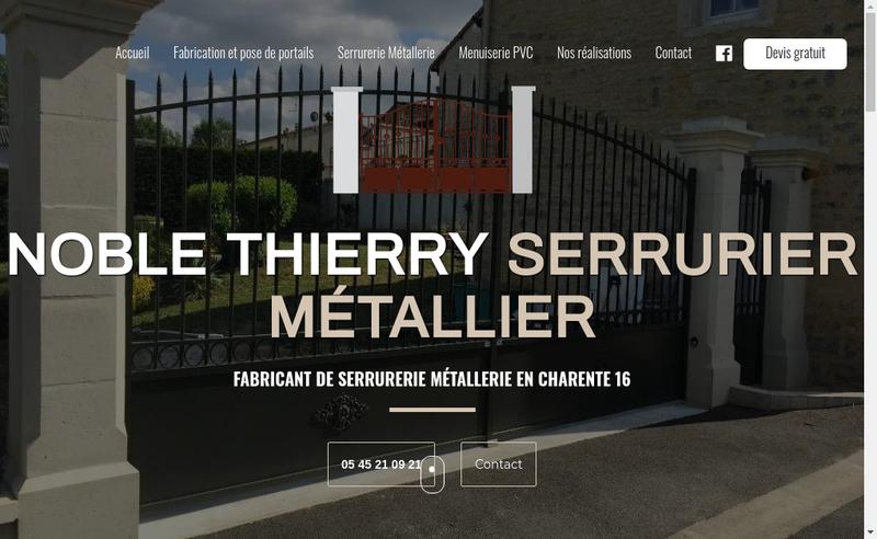 Capture d'écran du site de Thierry Noble