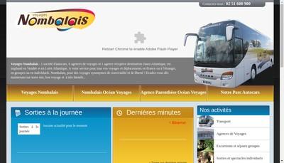 Site internet de Voyages Nombalais les Petits Trains de Vendee