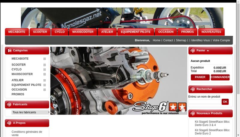 Capture d'écran du site de Arnaud Alby