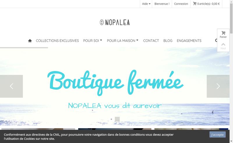 Capture d'écran du site de Nopalea