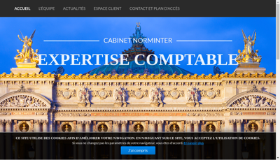 Capture d'écran du site de Fideliance Norminter