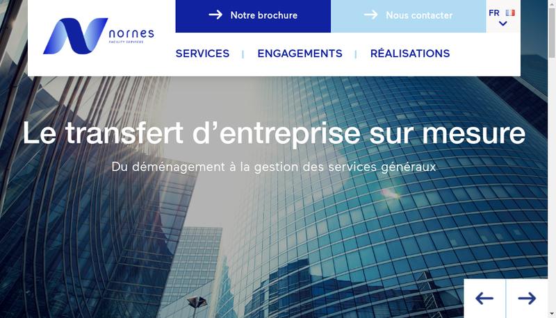 Capture d'écran du site de Nornes