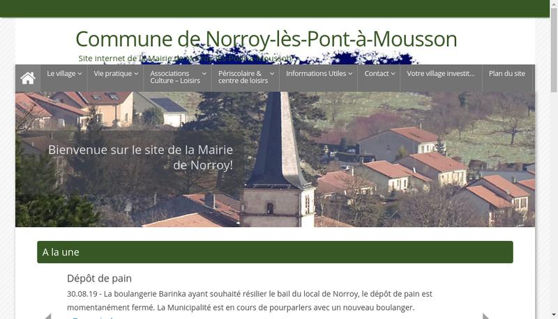 Capture d'écran du site de Vincent Payet
