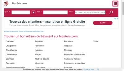 Site internet de Nosavis Com