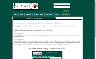 Site internet de Notafrais