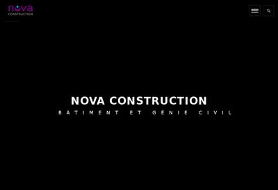 Capture d'écran du site de Nova Construction