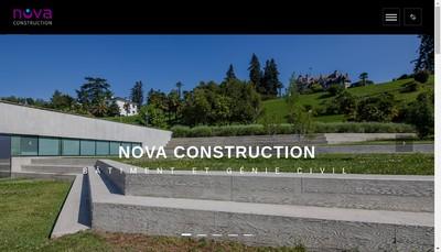 Site internet de Nova Construction