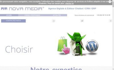 Site internet de Nova Media