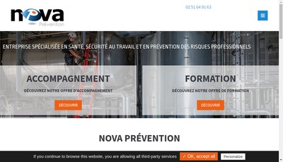 Site internet de Nova Prevention