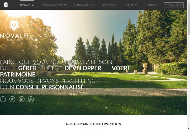 Capture d'écran du site de Novalfi Invest 4