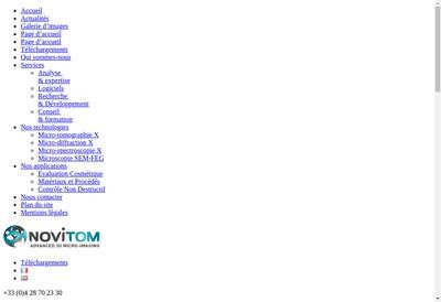 Site internet de Novitom