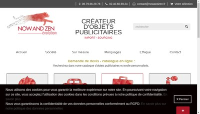 Site internet de Now And Zen Evolution