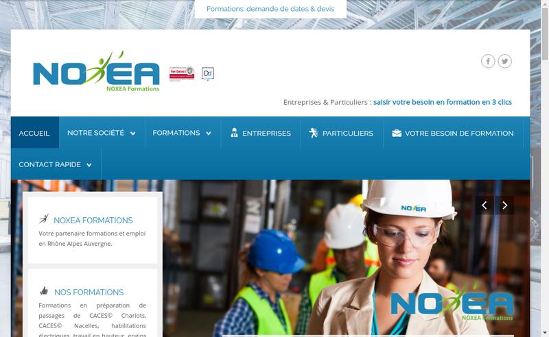 Capture d'écran du site de Noxea Formations