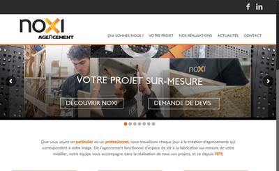 Site internet de Noxi Agencement