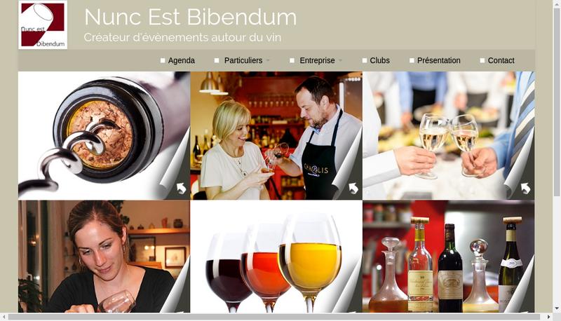 Capture d'écran du site de Nunc Est Bibendum