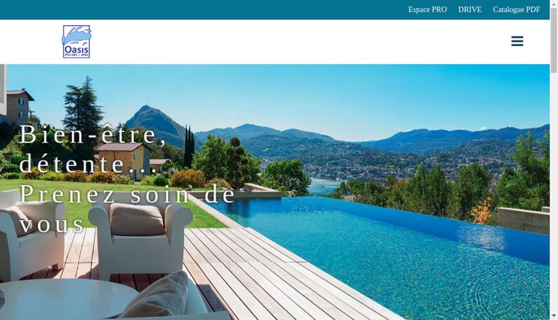 Capture d'écran du site de Oasis Piscines