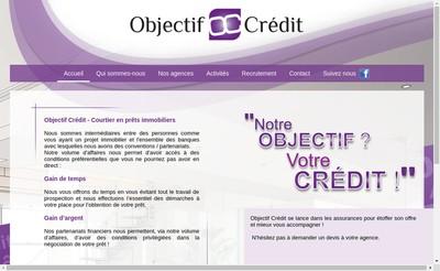 Site internet de Objectif Credit